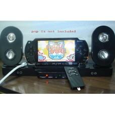 Black Stereo 2.1 Sub-woofer Speaker Station for PSP
